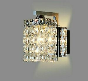 Lampshade Led Bulbs Wall Lamps Clear Crystal Lighting Home Decorative Light Lamp