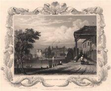 'Hampton Court Bridge'. London. Decorative view by William TOMBLESON 1835