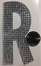 """GIANT SILVER RHINESTONE LETTER """"R"""" Stickers(1pc)JoAnn's•Name•Initial •Label•Last"""