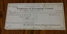 Make Offer 1914 Pa Hunting Fur License Williamsport Lycoming Co Fox Bounty