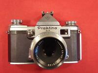 PRAKTINA II A Spiegelreflexkamera KW mit Objektiv Jena Tessar 2,8/50
