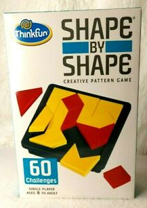 ThinkFun Shape by Shape Creative Pattern Logic Game For Ages 8+ *60 Challenges!