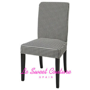 IKEA HENRIKSDAL Chair cover, Vibberbo black/beige