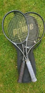 Prince Tennis Rackets with Prince Bag, 80's, Damaged, Ideal For Props, Display,