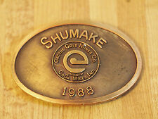 "Cactus Gold Mines Co. BELT BUCKLE ""SHUMAKE"" CoCa Mines Inc. 1988"