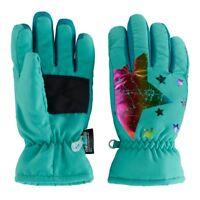 Girls 4-16 SO Rainbow Foil Print Star Ski Gloves Thinsulate Sizes: S/M & M/L