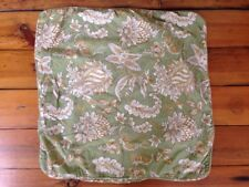 Pottery Barn Euro Square Pillow Case Sham Cover Floral Cotton Linen Blend 24x24