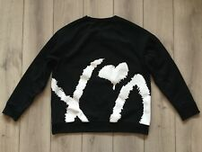 100 %  original rare H&M XO The Weekend men black sweatshirt top Size XL