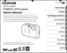 FujiFilm FinePix XP10 Digital Camera Owner's  Manual User Guide Instruction
