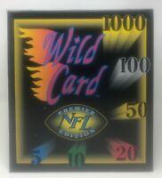 1991 WILD CARD Premier Edition NFL FOOTBALL Factory SEALED CASE Box 1000 Stripe