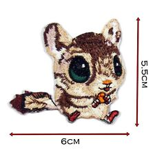 Cute Baby Squirrel High Detail Iron Patch Badge Patches Motif Embroirdered 453