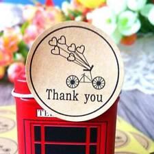 120 Pcs/set Bicycle Thank You Love Heart Kraft Stationery Stickers