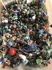 7 Pounds Of Glass, Ceramic, & Silver Beads Large Mixed Lot