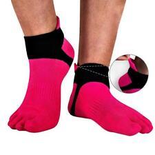 1 Pair MenMesh Meias Sports Running Five Finger Toe Socks Hot Pink