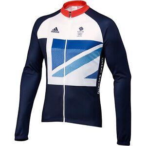 Adidas Team GB London 2012 Olympics Long Sleeve Cycling Jersey Size Large BNWT