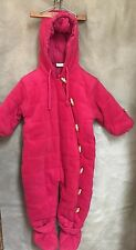 DPAM Red Quilted FLEECE Bunting SNOWSUIT Booties 24 mo