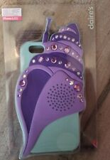 Claire's Iphone 6/6s rubber shell rhinestone Phone Case *BRAND NEW*