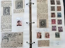 Wild Lincoln Postal HistoryAlbum w/ 75+ Stamps and 18 Covers / Postal Cards