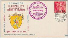 54445 - ECUADOR - POSTAL HISTORY: SPORTS postmark on COVER: BASKETBALL 1956
