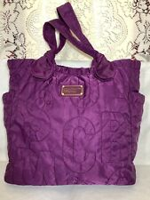 Marc by Marc Jacobs Tate Tote Bag Purple Magenta Nylon Quilted Handbag Purse
