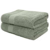 2-Piece Bath Towels Set for Bathroom | 100% Soft Cotton Turkish Towels - Green