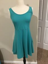 Small Teal Lace Back Dress