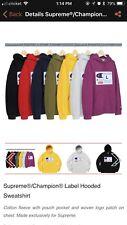 Supreme®/Champion® Label Hooded Sweatshirt