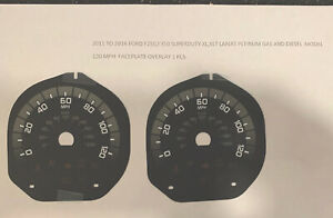 2011 -2016 Ford F-250 F350 Super Duty Speedometer Faceplate Overlay MPH