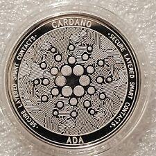 Cardano ADA 1 oz .999 silver commemorative coin crypto currency bitcoin btc NEW