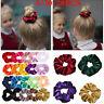 5/10/20x Velvet Hair Band Scrunchies Elastic Scrunchy Ponytail Hair Tie Rope-WI