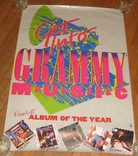 "ORIGINAL 1985 GRAMMY AWARD ALBUM OF THE YEAR NOMINEES PROMO POSTER 25.5"" X 23.5"""