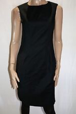 DAVID LAWRENCE Designer Black Textured Shoulder Compact Dress Size 10 BNWT #SA72