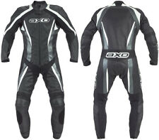 MEN'S MOTORBIKE COWHIDE LEATHER SUIT MOTORCYCLE SUIT JACKET TROUSER 1 or 2-PIECE