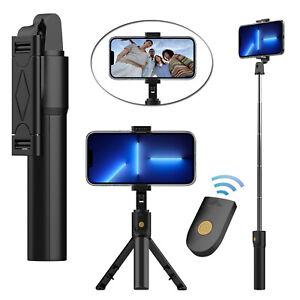 For iPhone 13 Pro Max Remote Selfie Stick Tripod Phone Desktop Stand Desk Holder