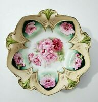 R.S. Prussia Floral bowl, Marked- 10.75""