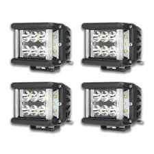 CRAWER Vorteilsverpackung 4x LED Arbeitsscheinwerfer Weitwinkel Combibeam 60Watt