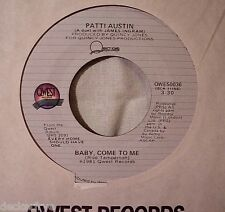 "1981 Patti Austin BABY, COME TO ME 1st Edition 7"" 45 RPM Sinlge Quest Pop NM"