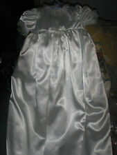christening dress in ivory satin hand made