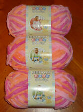 Bernat Baby Blanket Yarn Lot Of 3 Skeins (Peachy #03510) 3.5 oz. Skeins