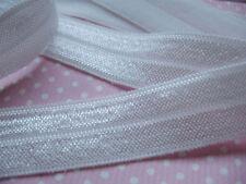 2 YARD WHITE FOLDOVER ELASTIC SIZE 5/8 PERFECT FOR HEADBANDS FOE