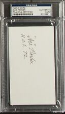 ACE PARKER Signed Index Card PSA/DNA NFL Hall of Fame HOF AUTO AUTOGRAPH