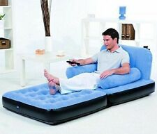 BESTWAY INFLATABLE SINGLE AIR BED COUCH/SOFA BED MATTRESS LOUNGER BLUE