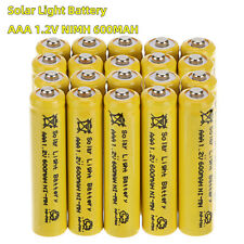Lot AAA 1.2V 600mAh Ni-MH Rechargeable Batteries 3A Battery For Solar Light