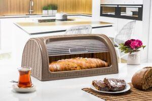 Dunya Plastic Bread Bin Container Box. Loaf storage Roll Top Bread Bin. BPA Free