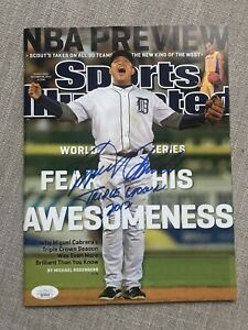 Miguel Cabrera autographed signed Sports Illustrated Inscribed JSA Label Cover