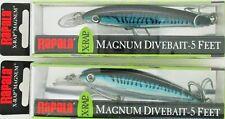 (2) Rapala X-Rap Magnum Divebait Crankbait Jerkbait XRMAG05 Silver Blue Mackerel