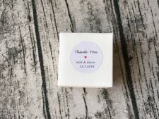 24x 4cm White Round Paper Thank You Stickers Personalised Wedding Favour Labels