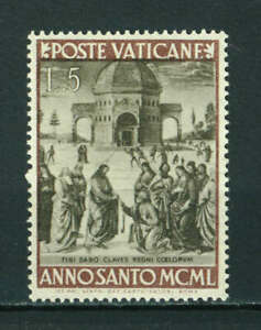 Vatican 1949 The Holy Year 5L brown/light brown stamp. Mint. Sg 151