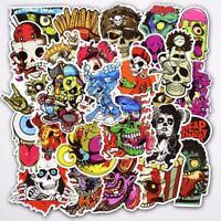 50pcs lot Sticker Bomb Decal Vinyl skull Car Skate Skateboard Laptop Luggage