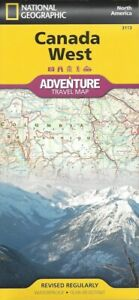 National Geographic Canada West Adventure Travel Map FREE SHIPPING